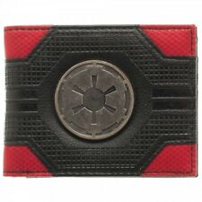 AWESOME STAR WARS EMPIRE METAL SYMBOL RED AND BLACK BI-FOLD WALLET *NEW & BOXED*