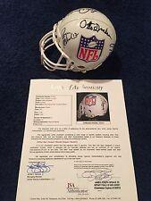 QB Signed NFL Mini Helmet Starr Namath Staubach Graham Dawson JSA HoF Super Rare