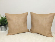 Set of 2 20x20 Burlap Pillow Throw covers Decorative French Country Farmhouse