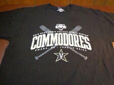 Vanderbilt Commodores Baseball 2015 College World Series T Shirt Large  K12