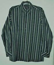 Peter England Long Sleeved Striped Shirt - Size Large - In Very Good Condition