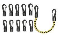 5 mm Bungee Cord Shock rope Elastic End Hooks Black Plastic Easy Quick Self Fit