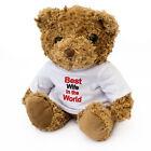 NEW - BEST WIFE IN THE WORLD - Teddy Bear - Cute Soft Cuddly Gift Present Award