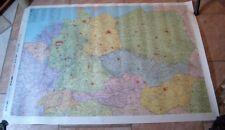 DDR Landkarte 105 x 75 cm Haack ungefaltet BRD Ungarn DDR Polen CSSR