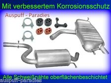 Abgasanlage Auspuff Endtopf VW Golf V 1.6 FSi 85KW Fließheck (Typ 1K1) +Anbaukit