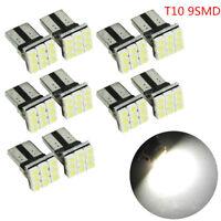 10X/SET T10 LED 9SMD Car License Plate Light Tail Bulb 2825 192 194 W5W White