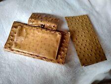 St. Thomas - Top Grain Cowhide wallet - embossed as ostrich skin - 2 pcs.vintage