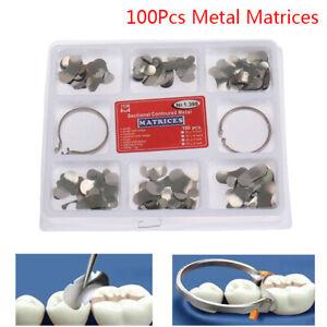 100Pcs Dental Matrix Sectional Contoured Metal Matrices No.1.398 lmws 2 RingsSC