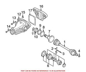 For BMW Genuine CV Joint Oil Seal Dust Shield Rear Right 33131214445