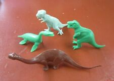 Marx mold dinosaur lot-the Big Four-T-rexes, Brontosaurus and Kronsoaurus