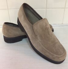 HUSH PUPPIES Earl Loafers Womens 7 M slip on beige suede leather 55018