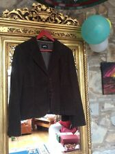 PER UNA DARK OLIVE GREEN CORDUROY JACKET LINED WITH LOOP BUTTONS Size UK 14
