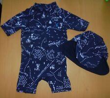 JOULES BOYS UV PROTECTION SWIM SUIT & HAT SET AGE 12-18 MONTHS