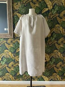 Vintage Antique French Well Worn Linen Shirt Smock Nightshirt MG Monogram