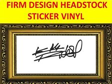 STICKER HEADSTOCK FIRM KEITH RICHARDS THE ROLLING STONES VISIT MY STORE GUITARS