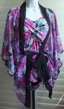 SWIM by Chuck Handy NWT 2 Pc. Swimsuit w/Matching Cover-up Floral Design 12