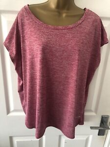 Matalan Souluxe Red Flecked active wear t shirt top size Large