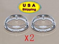 2x 7'' LED Round Headlight Mounting Bracket Ring Bezel For Jeep Wrangler Harley