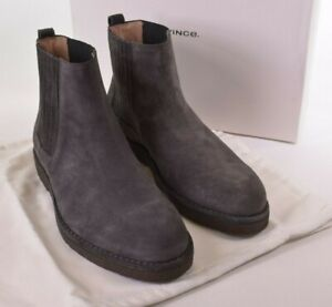 Vince NWB Chelsea Boots Size 11 D in Gray/Graphite Suede Carmine $395