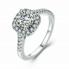 Bridal Anniversary Gift Ring Size 8 Fashion Silver White Zircon Wedding Jewelry