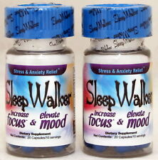 Sleep Walker Capsules 40 Pills Focus & Mood Optimizer (2 Bottles) Sleepwalker