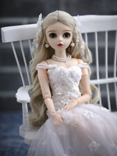 BJD Doll 1/3 Beautiful Girl With Free Face Makeup Eyes Wigs Clothes B-Day Gift
