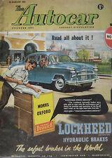 Autocar magazine 16/8/1957 featuring Messerschmitt KR201 drop-head, Mercedes