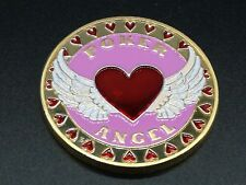 Poker Angel Solid Pink Card Guard Hand Protector US Seller
