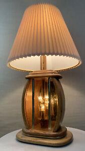 Vintage Mid Century Danish Modern Light Up Base Circa 1970s 1980s Lamp