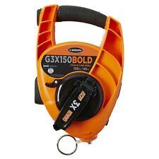 Keson G3x 00004000 150bold Bold Chalk Line Reel With 3x1 Rewind 12-ounce Chalk Capacity