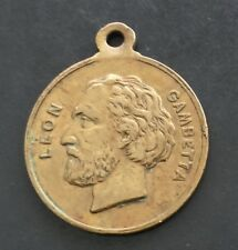 French Medal Leon Gambetta Delegation De Bordeaux France Jeton Token
