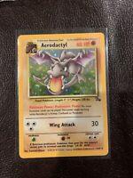 MINT AERODACTYL - 1/62 - Fossil Set - Holo Foil Rare Pokemon Card PSA Ready