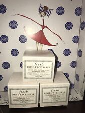 3X FRESH Rose Face Mask HYDRATES TONES Infused Real Rose Petals .5 oz/15 ml Each