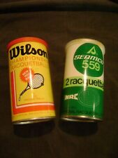 Vintage Wilson Racquetballs /  2 Red Balls New + Seamco 559 Unopened Metal Can