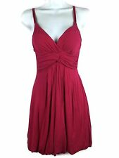 Twenty One Sun Dress Empire Stretch Rayon Jersey Fuschia Pink Molded Cup Size S