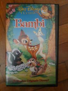 VHS BAMBI - ORIGINALE WALT DISNEY