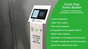 Lettore Green Pass con Tablet 10.3 pollici con possibilità di stampa