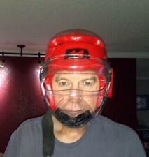 ATA Taekwondo Karate Sparring Head Gear Black Helmet with Face Mask Large