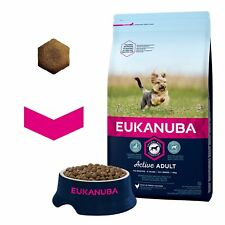 Eukanuba Dry Dog Food For Adult Toy Breed Dogs Active Adult Rich in Chicken 2kg