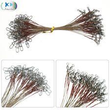 Stainless Steel Fishing Wire Leader Rigs Brown Trace Line 1x7/7x7 Strands 26LB