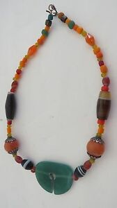 ANCIENT  JADE /AGATE/CARNELIAN  BEADS  NECKLACE