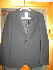 m&s mens black slim fit jacket size 34 medium brand new with tags
