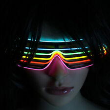 Led Party Glasses Light Up Flashing Luminous Neon Glowing Shades New Year 2020