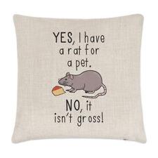 Oui I Ont Une Rat Pour Animal Non It Isn't Grand Lin Housse De Coussin Oreiller
