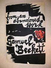 From An Abandoned Work by Samuel Beckett 1958 Faber & Faber Scarce Booklet - DJ!