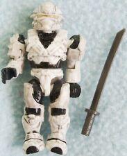 HALO Mega Bloks - UNSC Hayabusa Spartan White Figure & Weapon Toy