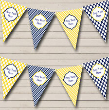 Yellow And Navy Nautical Sailing Beach Seaside Themed Bunting Banner