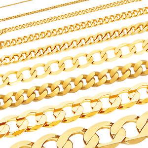 Massive edle Goldkette Panzerkette Halskette Collier Echt 333 585 750 Gold