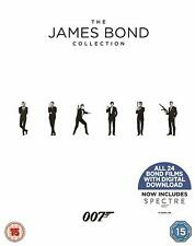 JAMES BOND 007 ALL 24 MOVIE FILM COLLECTION BLU-RAY BOX SET UK Release New R2