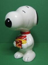 Peanuts Snoopy Dog food bag money box Piggy bank coin vintage ceramic figure